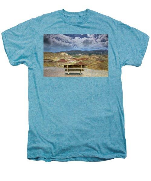 The Overlook At Painted Hills In Oregon Men's Premium T-Shirt