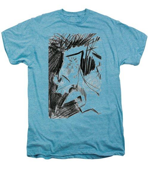 The Scream - Picasso Study Men's Premium T-Shirt