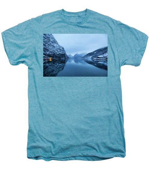 Men's Premium T-Shirt featuring the photograph The Stillness Of The Sea by David Chandler