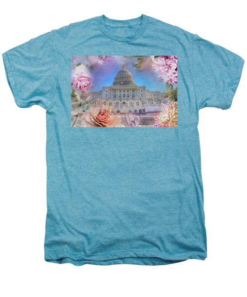 The Us Capitol Building At Spring Men's Premium T-Shirt