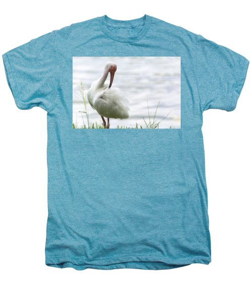 The White Ibis  Men's Premium T-Shirt by Saija  Lehtonen