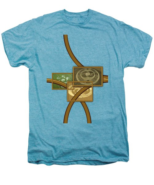 The World Of Crop Circles By Pierre Blanchard Men's Premium T-Shirt by Pierre Blanchard