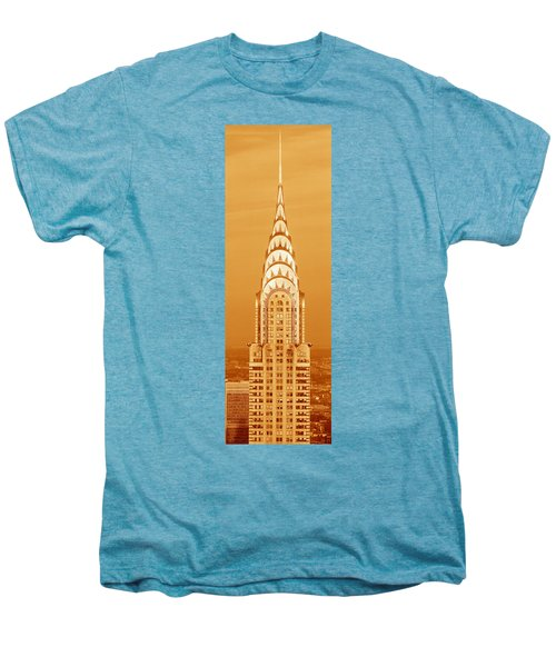 Chrysler Building At Sunset Men's Premium T-Shirt by Panoramic Images