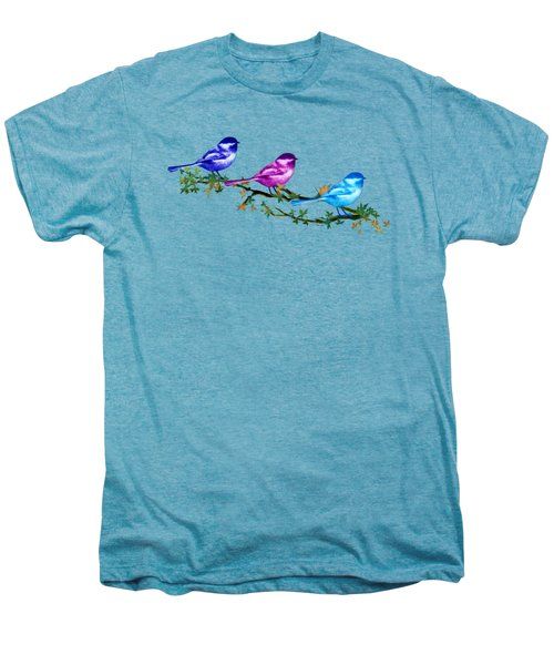 Three Chickadees Men's Premium T-Shirt