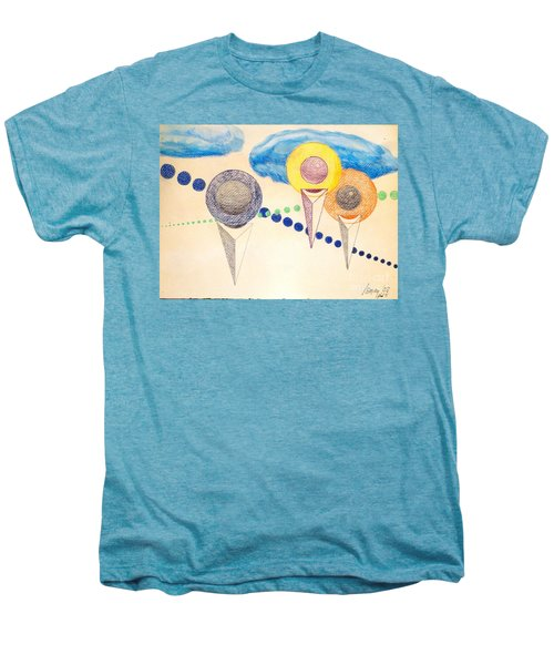 Men's Premium T-Shirt featuring the painting The Recession Of Depression 2 by Rod Ismay
