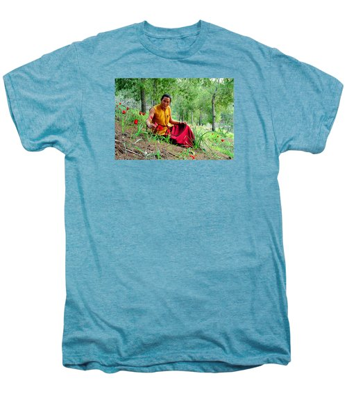 Tibetan Doctor In Lahav Forest Men's Premium T-Shirt