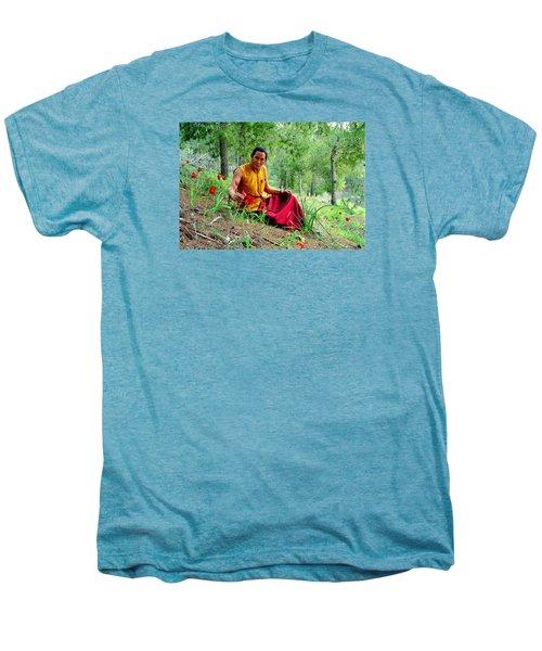 Tibetan Doctor In Lahav Forest Men's Premium T-Shirt