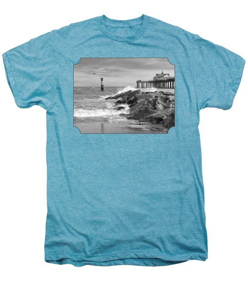 Tide's Turning - Black And White - Southwold Pier Men's Premium T-Shirt by Gill Billington