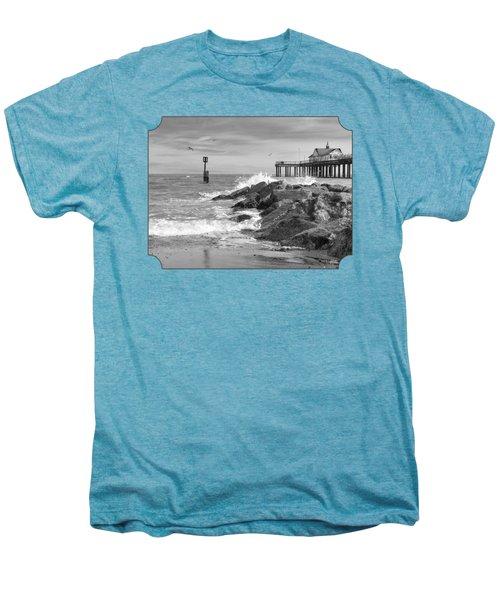 Tide's Turning - Black And White - Southwold Pier Men's Premium T-Shirt