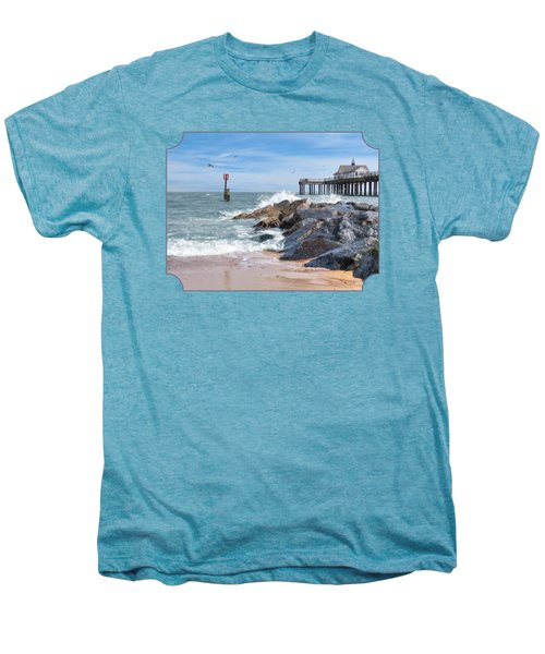 Tide's Turning - Southwold Pier Men's Premium T-Shirt by Gill Billington