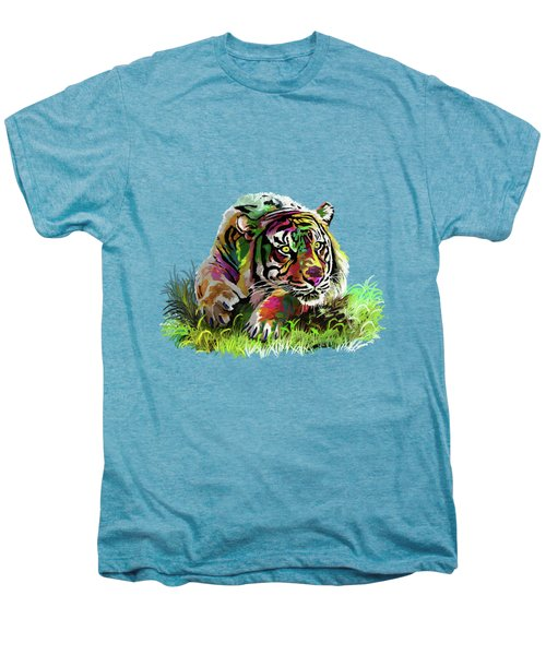 Colorful Tiger Men's Premium T-Shirt by Anthony Mwangi