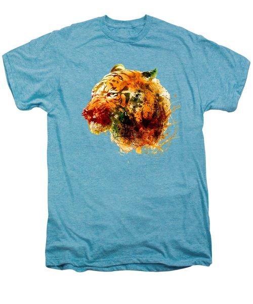 Tiger Side Face Men's Premium T-Shirt by Marian Voicu