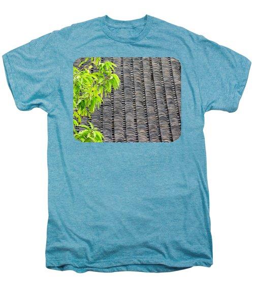 Tiled Roof Men's Premium T-Shirt by Ethna Gillespie