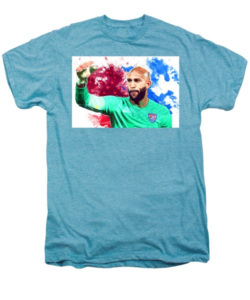 Tim Howard Men's Premium T-Shirt by Semih Yurdabak