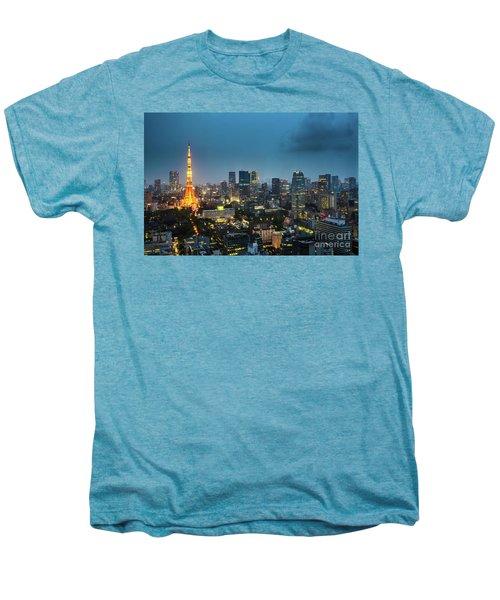 Tokyo Tower And Skyline Men's Premium T-Shirt