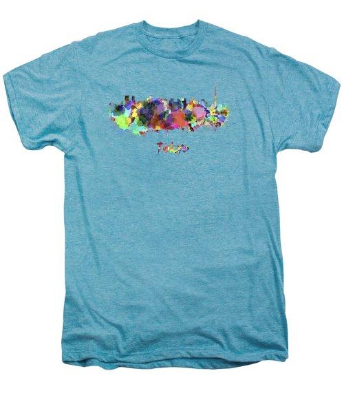 Tokyo V2 Skyline In Watercolor Men's Premium T-Shirt