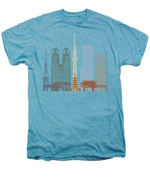 Tokyo V2 Skyline Poster Men's Premium T-Shirt