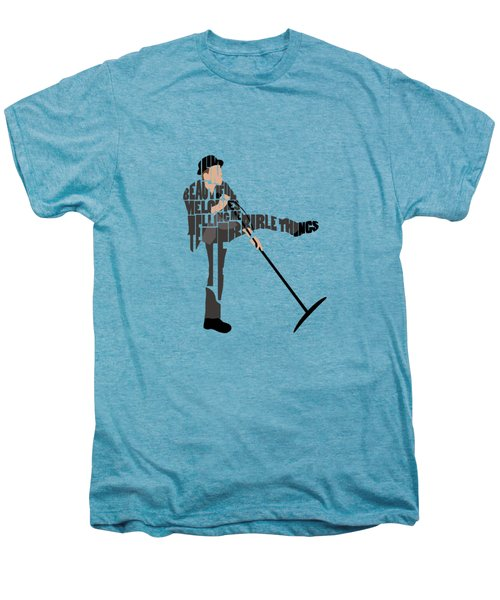 Tom Waits Typography Art Men's Premium T-Shirt