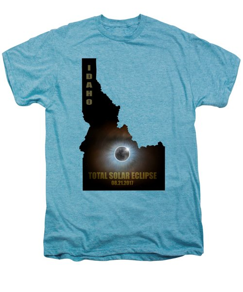 Total Solar Eclipse In Idaho Map Outline Men's Premium T-Shirt