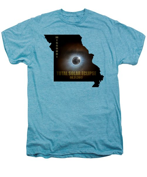 Total Solar Eclipse In Missouri Map Outline Men's Premium T-Shirt