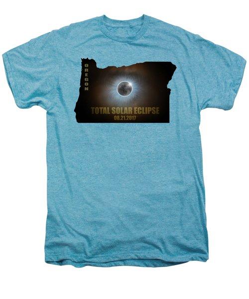 Total Solar Eclipse In Oregon Map Outline Men's Premium T-Shirt