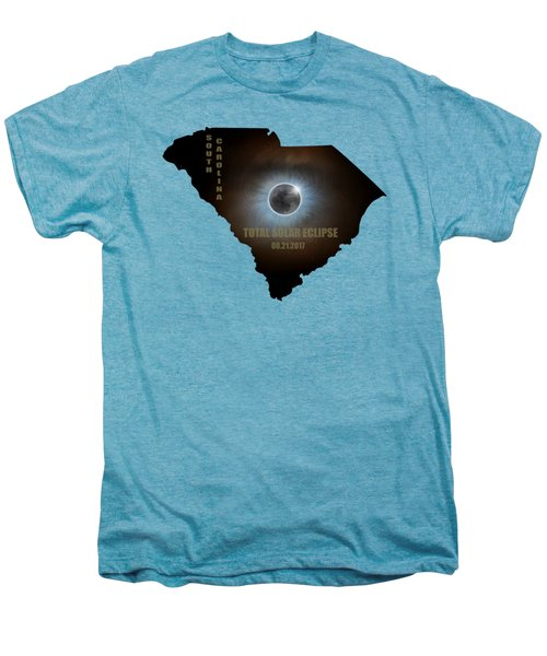 Total Solar Eclipse In South Carolina Map Outline Men's Premium T-Shirt