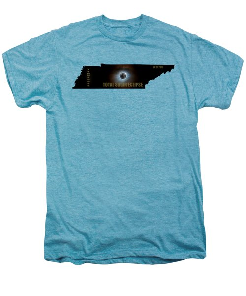 Total Solar Eclipse In Tennessee Map Outline Men's Premium T-Shirt