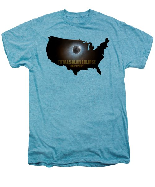 Total Solar Eclipse In United States Map Outline Men's Premium T-Shirt