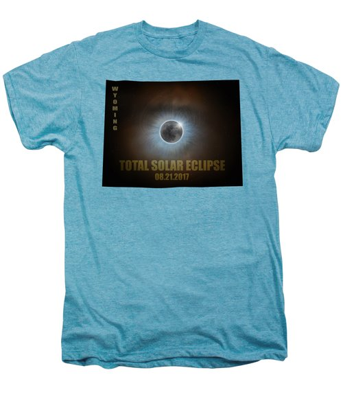 Total Solar Eclipse In Wyoming Map Outline Men's Premium T-Shirt