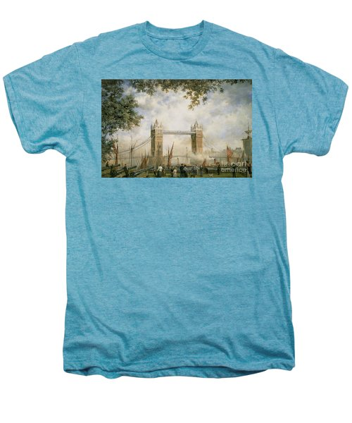 Tower Bridge - From The Tower Of London Men's Premium T-Shirt by Richard Willis