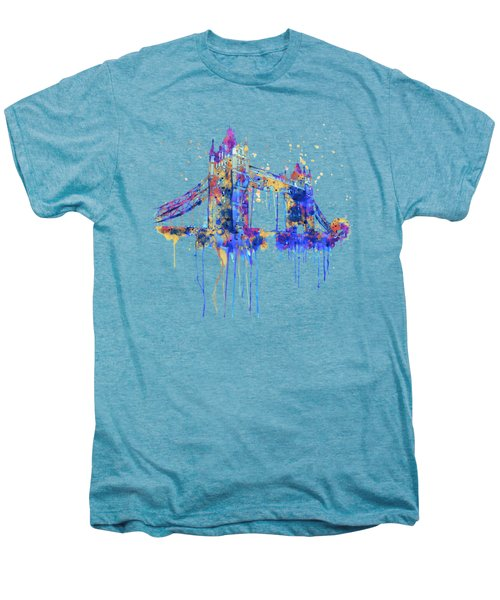Tower Bridge Watercolor Men's Premium T-Shirt by Marian Voicu