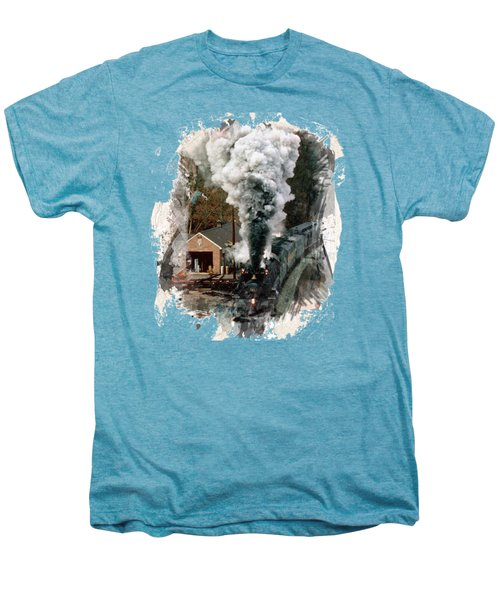 Train Days Men's Premium T-Shirt by Florentina Maria Popescu