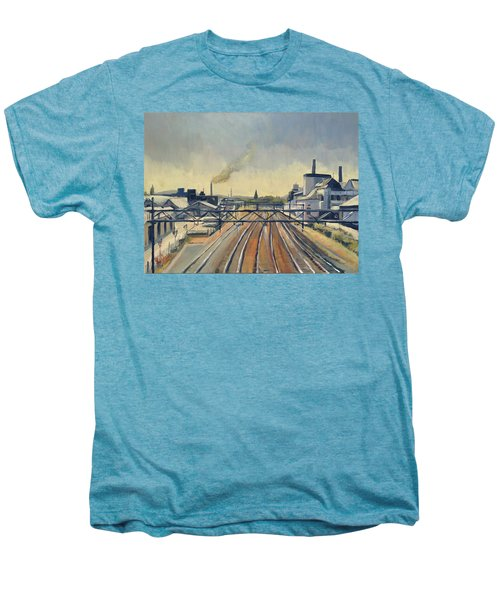Train Tracks Maastricht Men's Premium T-Shirt