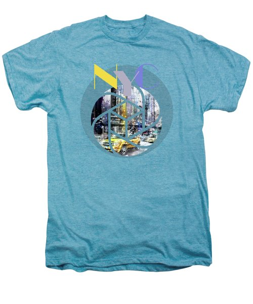 Trendy Design New York City Geometric Mix No 3 Men's Premium T-Shirt by Melanie Viola