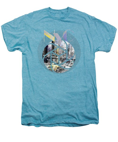 Trendy Design New York City Geometric Mix No 4 Men's Premium T-Shirt by Melanie Viola