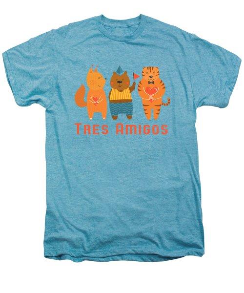 Tres Amigos Cute Animals Tee Men's Premium T-Shirt