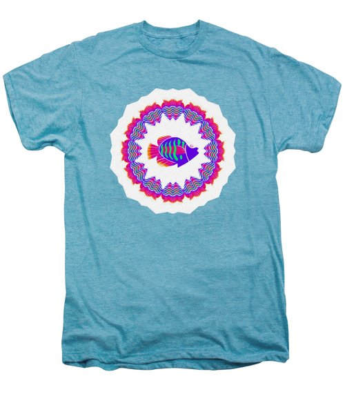 Tropical Fish Kaleidoscope By Kaye Menner Men's Premium T-Shirt