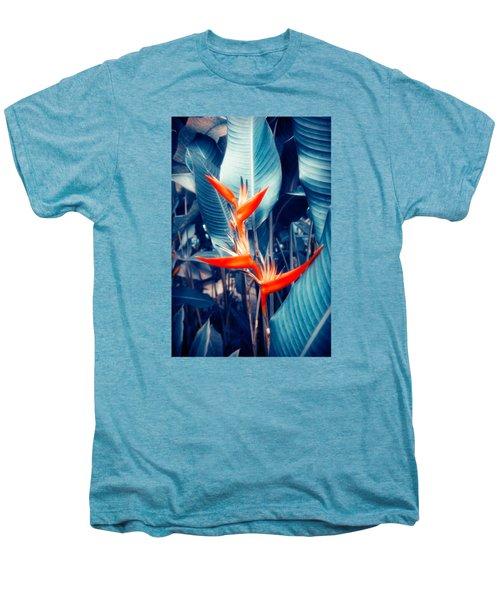 Tropical Parakeet Flower Men's Premium T-Shirt by Konstantin Sevostyanov
