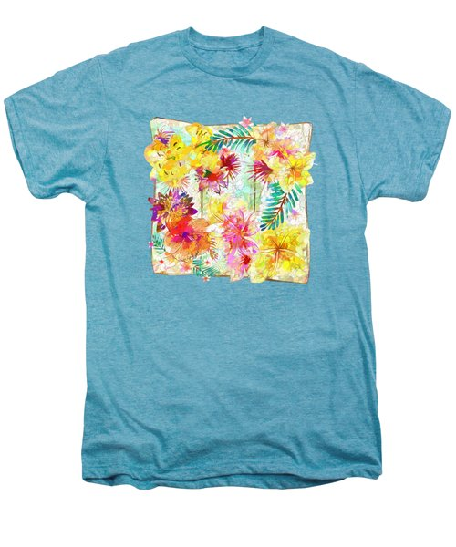 Tropicana Abstract By Kaye Menner Men's Premium T-Shirt by Kaye Menner