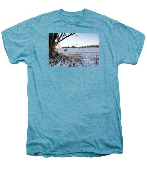 Trossachs Scenery In Scotland Men's Premium T-Shirt by Jeremy Lavender Photography