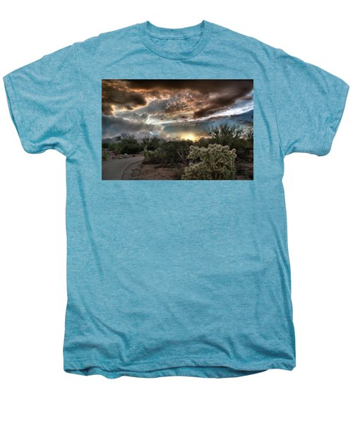 Tucson Mountain Sunset Men's Premium T-Shirt by Lynn Geoffroy