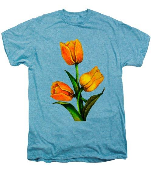Tulips Men's Premium T-Shirt by Zina Stromberg