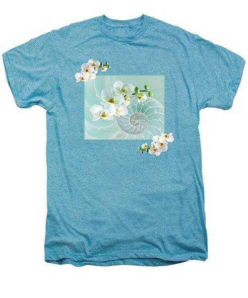 Turquoise Fusion Men's Premium T-Shirt by Gill Billington