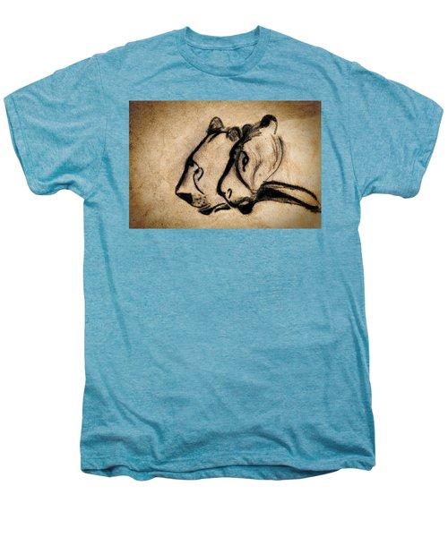 Two Chauvet Cave Lions Men's Premium T-Shirt