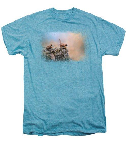Two Little Wrens Men's Premium T-Shirt by Jai Johnson