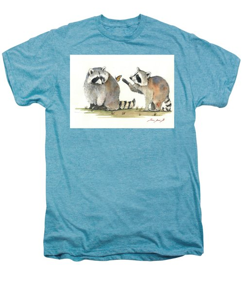 Two Raccoons Men's Premium T-Shirt by Juan Bosco