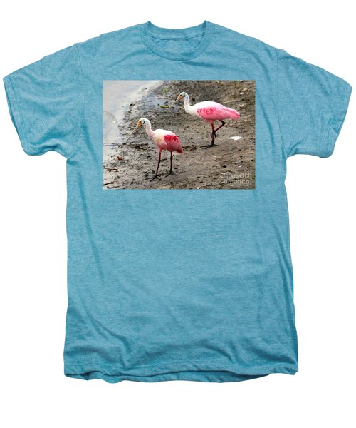 Two Roseate Spoonbills Men's Premium T-Shirt by Carol Groenen