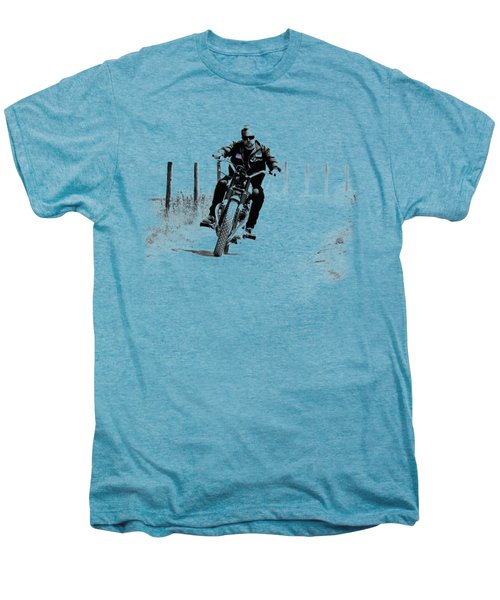 Two Wheels Move The Soul Men's Premium T-Shirt by Mark Rogan
