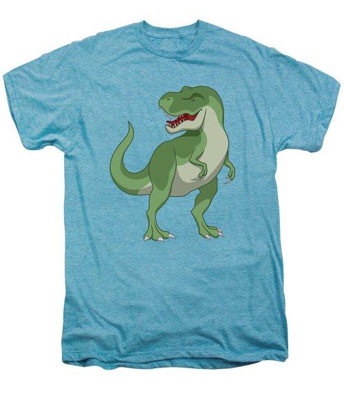 Tyrannosaurus Rex Dinosaur Green Men's Premium T-Shirt