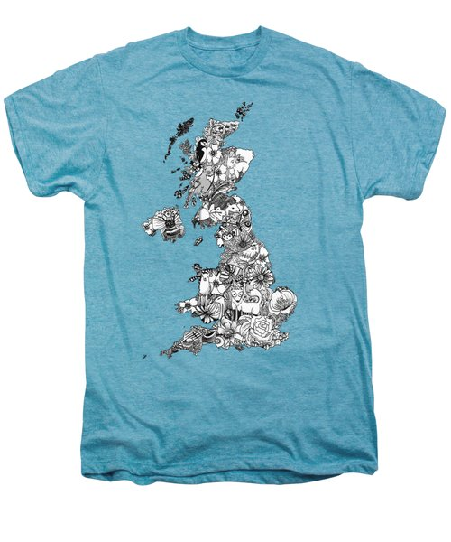 Uk Map Men's Premium T-Shirt
